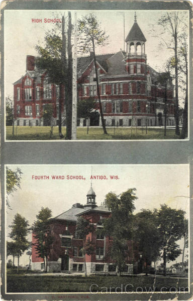 High School Fourth Ward School Antigo Wisconsin