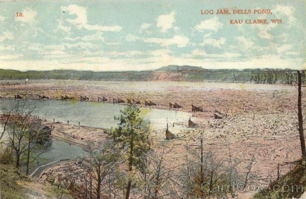Log Jam, Dells Pond Eau Claire Wisconsin