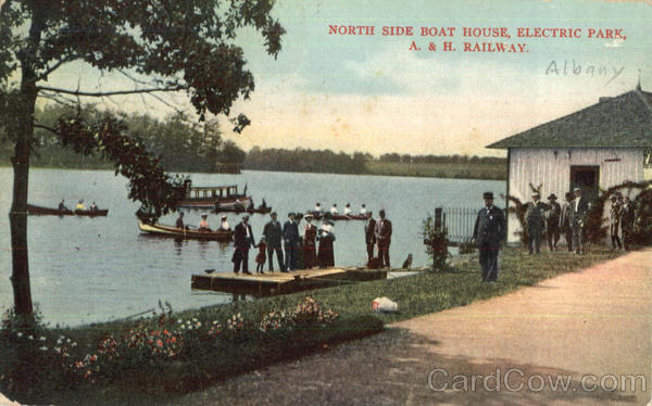 North Side Boat House, Electric park Albany New York
