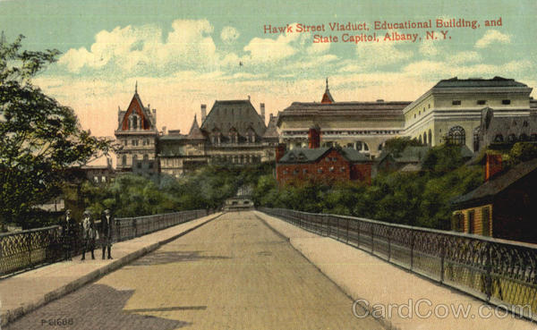 Hawk Street Viaduct Educational Building And State Capitol Albany New York