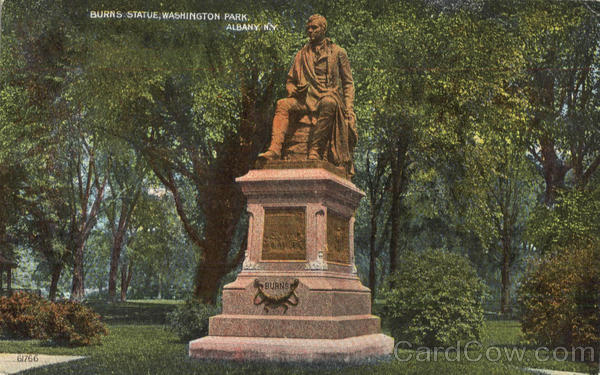 Burns Statue , Washington Park Albany New York