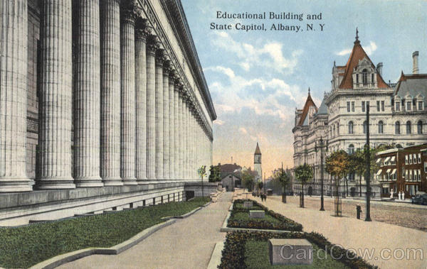 Educational Building And State Capitol Albany New York