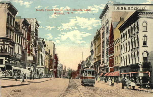 North Pearl Street From State Street Albany New York