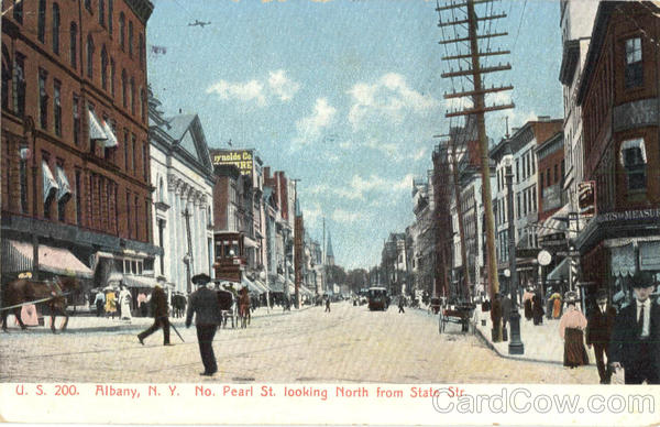 North Pearl Street Looking North From State Street Albany New York