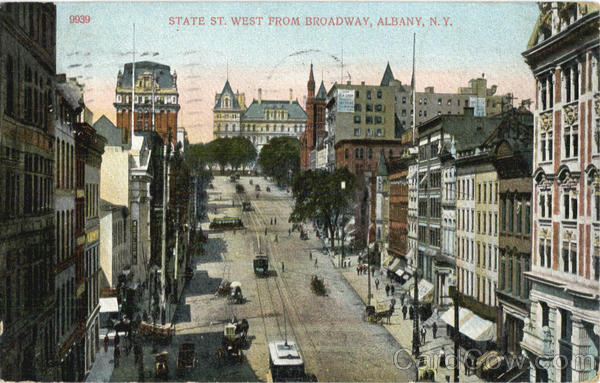 State St. West From Broadway Albany New York