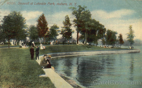 Seawall At Lakeside Park Auburn New York