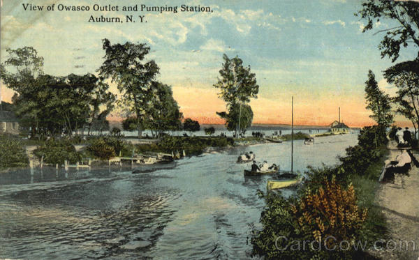 View Of Owasco Outlet And Pumping Station Auburn New York