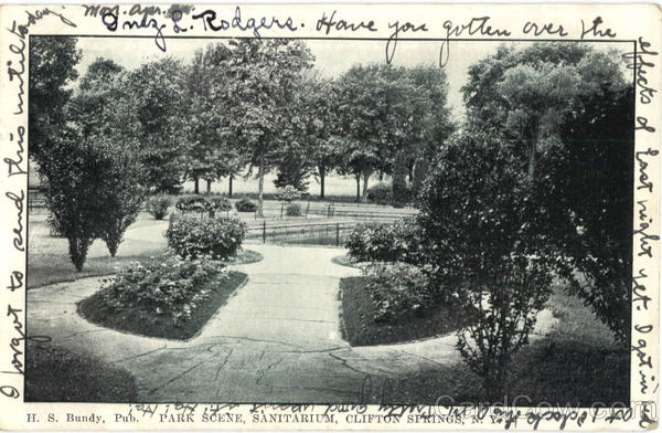 Park Scene, Sanitarium Clifton Springs New York