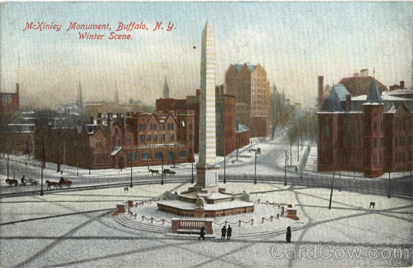 McKinley Monument in Winter Buffalo New York