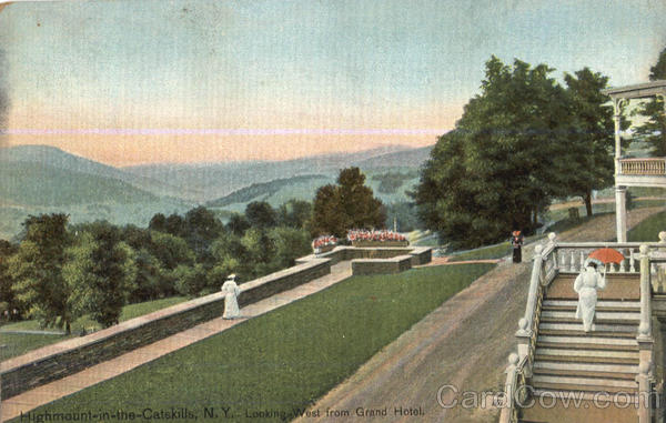 Looking west from Grand Hotel Highmount In The Catskills New York