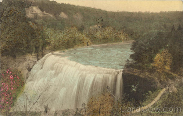 Middle Falls From Glen Iris Letchworth State Park New York