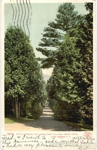 Path Through The Trees Fort William Henry Hotel Lake George New York