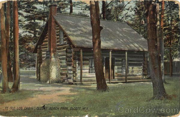 Ye old log cabin olcott beach ny for Log cabins in ny