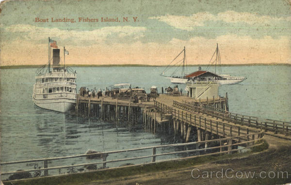 Boat Landing Fishers Island New York Steamers