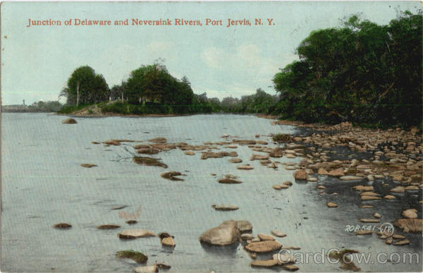Junction Of Delaware And Neversink Rivers Port Jervis New York
