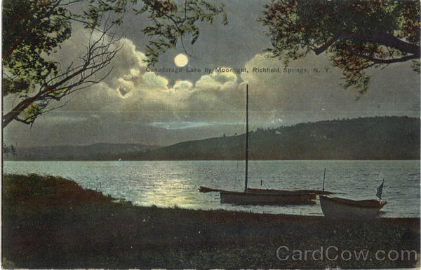 Canadarago Lake By Moonlight Richfield Springs New York