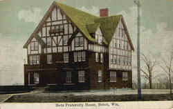 Beta Fraternity House Postcard