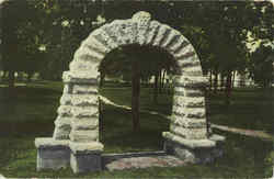 Arch On College Camp Postcard