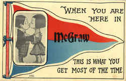 McGraw Banner Postcard