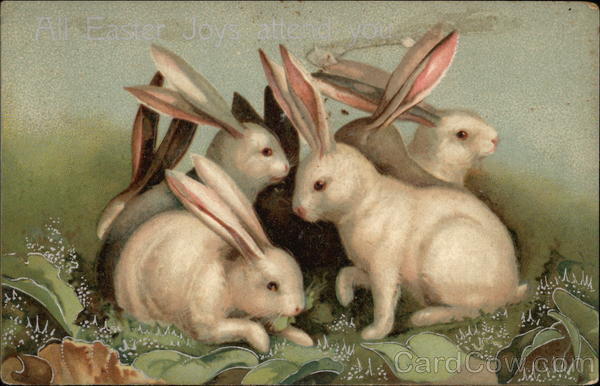 All Easter Joys Attend You With Bunnies