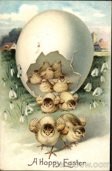 A Happy Easter With Chicks