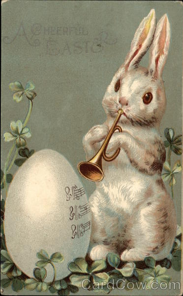 A Cheerful Easter Vintage Post Card