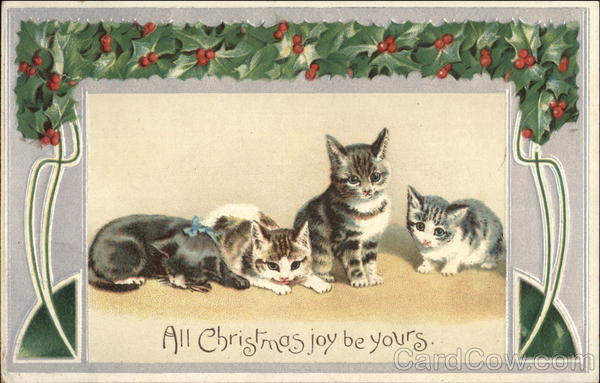 All Christmas Joy Be Yours With Cats