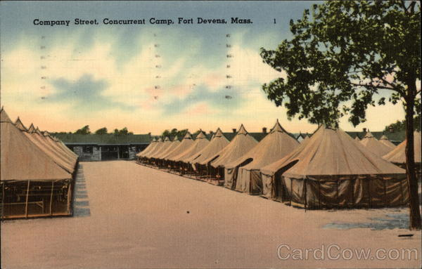 Company Street, Concurrent Camp, Fort Devens, Mass Massachusetts