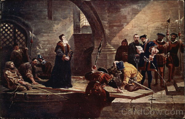 Cranmer at Traitor's Gate F. Goodall Art
