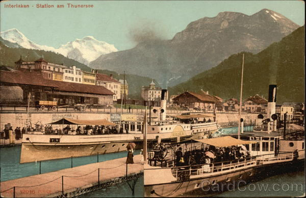 Interlaken - Station am Thunersee Boats, Ships