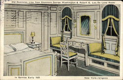 Old Dominion Line New Steamers George Washington & Robert E. Lee, Deluxe Room