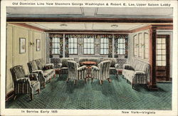 Old Dominion Line New Steamers George Washington & Robert E. Lee, Upper Saloon Lobby