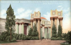 Entrance to Peristyle Palace of Fine Arts, San Francisco