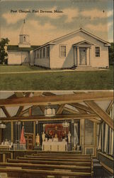 Chapel, Fort Devens, Mass Postcard