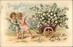 Angels Pulling Chariot of Lily of the Valley