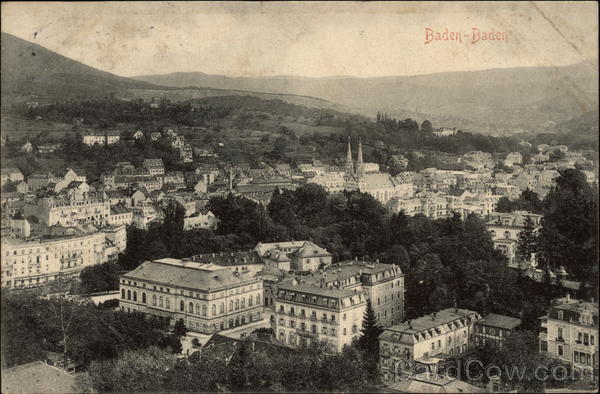 Panoramic View of City Baden Baden Germany