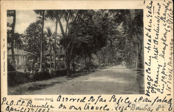 View of the Burma Road in Penang Malaysia Southeast Asia