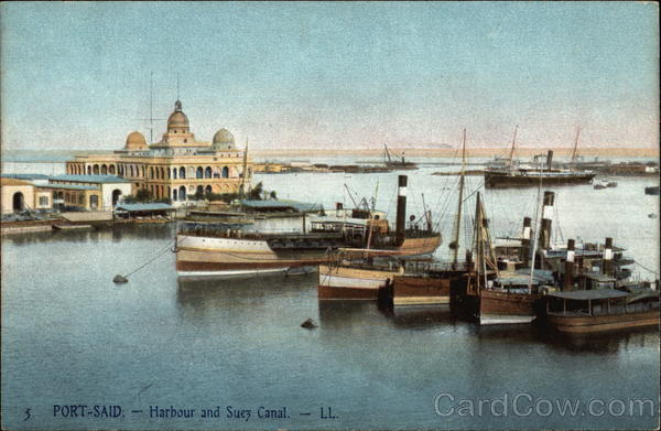 Harbour and Suez Canal Port Said Egypt Africa
