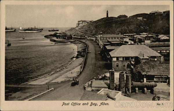 Post Office and Bay Aden Yemen Middle East