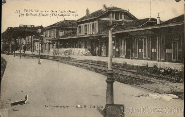 The Railway Station (The Platform Side) Verdun France