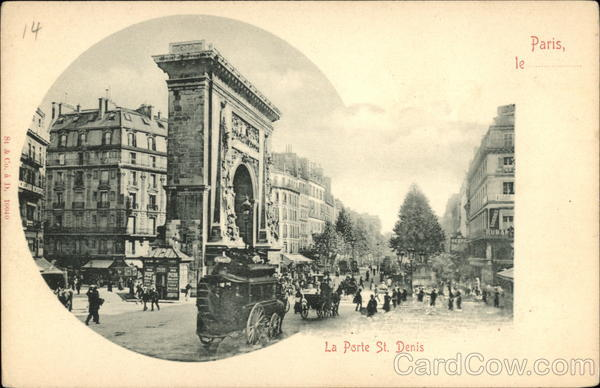 La Porte St. Denis Paris France