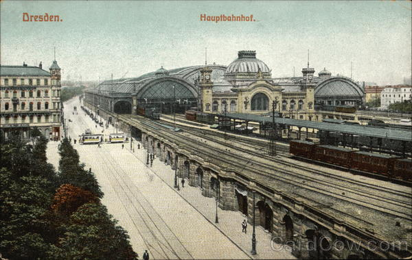 Hauptbahnof - Railway Station Dresden Germany