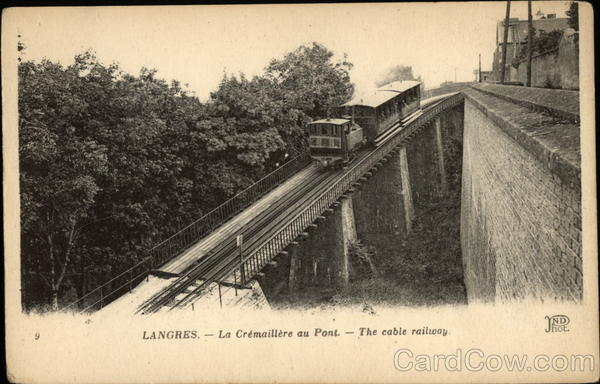 View of Cable Railway Langres France