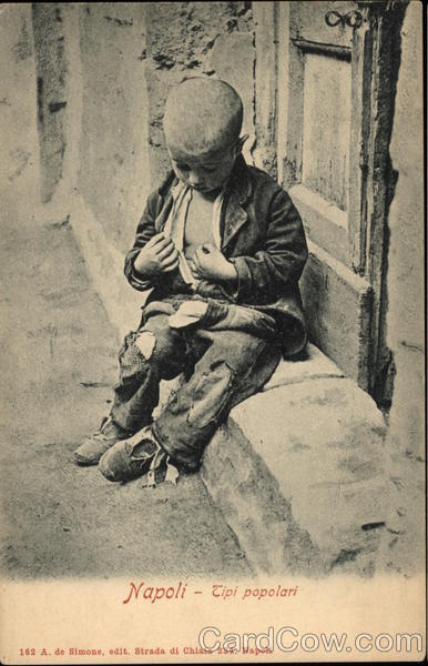 Young Street Urchin Naples Italy