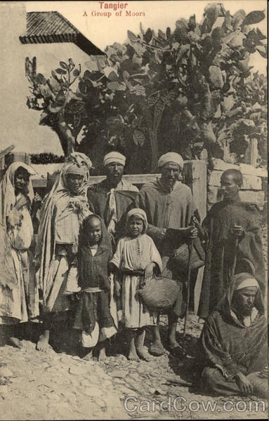 A Group of Moors Tangier Morocco Africa