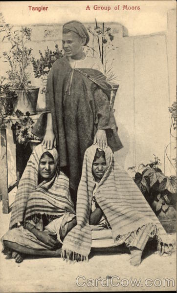 A Group of Moors Tangiers Morocco Africa