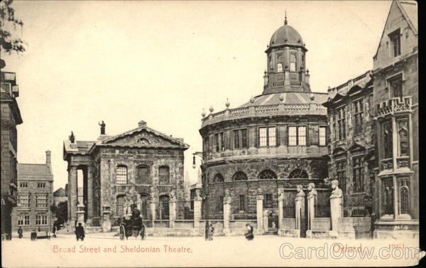 Broad Street and Sheldonian Theatre Oxford England