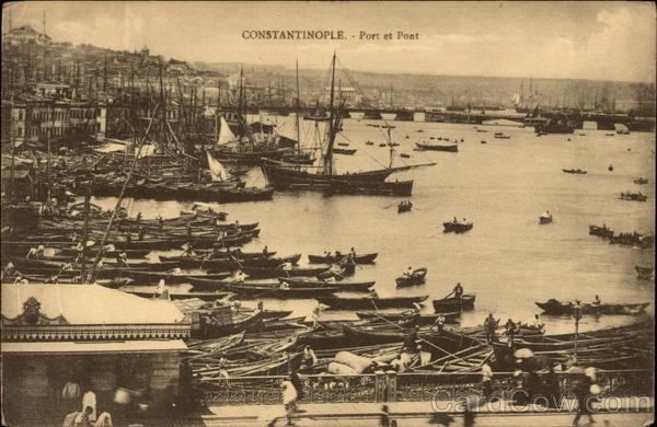 Port et Pont Constantinople Turkey Greece, Turkey, Balkan States