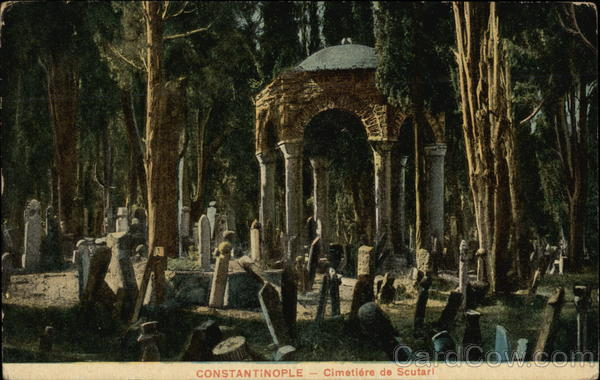 Cimetiere de Scutari Constantinople Turkey Greece, Turkey, Balkan States