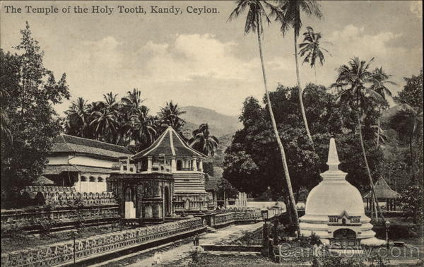 The Temple of the Holy Tooth Kandy Ceylon Southeast Asia